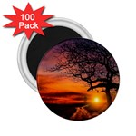 Lonely Tree Sunset Wallpaper 2.25  Magnets (100 pack)  Front