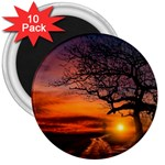 Lonely Tree Sunset Wallpaper 3  Magnets (10 pack)  Front