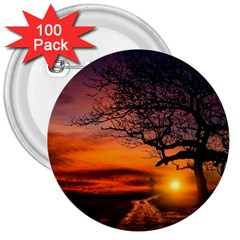 Lonely Tree Sunset Wallpaper 3  Buttons (100 pack)