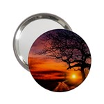 Lonely Tree Sunset Wallpaper 2.25  Handbag Mirrors Front