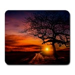 Lonely Tree Sunset Wallpaper Large Mousepads Front