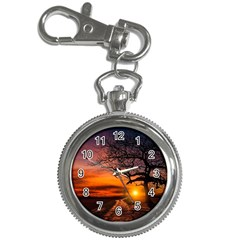Lonely Tree Sunset Wallpaper Key Chain Watches