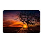 Lonely Tree Sunset Wallpaper Magnet (Rectangular) Front