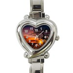 Lonely Tree Sunset Wallpaper Heart Italian Charm Watch Front