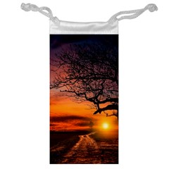 Lonely Tree Sunset Wallpaper Jewelry Bag