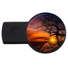 Lonely Tree Sunset Wallpaper USB Flash Drive Round (4 GB)