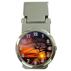 Lonely Tree Sunset Wallpaper Money Clip Watches