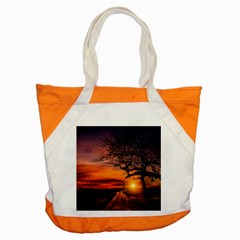 Lonely Tree Sunset Wallpaper Accent Tote Bag