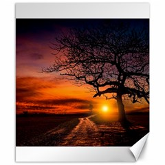 Lonely Tree Sunset Wallpaper Canvas 8  x 10
