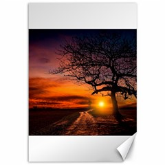 Lonely Tree Sunset Wallpaper Canvas 12  x 18