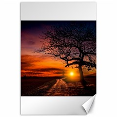 Lonely Tree Sunset Wallpaper Canvas 24  x 36