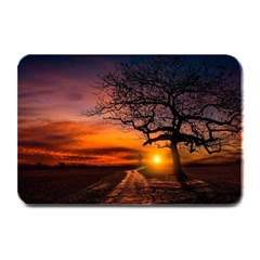 Lonely Tree Sunset Wallpaper Plate Mats