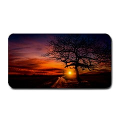 Lonely Tree Sunset Wallpaper Medium Bar Mats