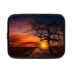 Lonely Tree Sunset Wallpaper Netbook Case (Small)