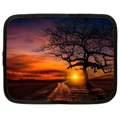 Lonely Tree Sunset Wallpaper Netbook Case (Large)