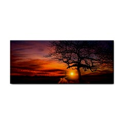 Lonely Tree Sunset Wallpaper Hand Towel