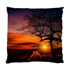 Lonely Tree Sunset Wallpaper Standard Cushion Case (Two Sides)