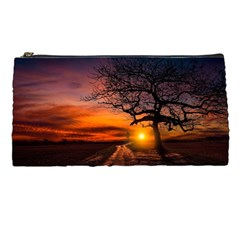 Lonely Tree Sunset Wallpaper Pencil Cases