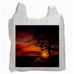 Lonely Tree Sunset Wallpaper Recycle Bag (One Side) Front
