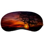 Lonely Tree Sunset Wallpaper Sleeping Masks Front