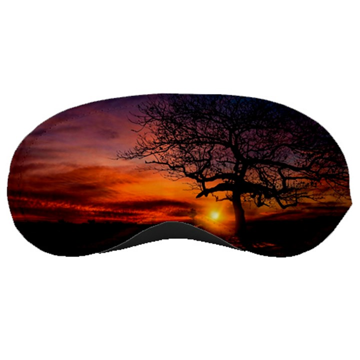 Lonely Tree Sunset Wallpaper Sleeping Masks
