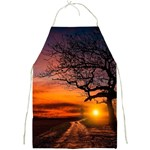 Lonely Tree Sunset Wallpaper Full Print Aprons Front