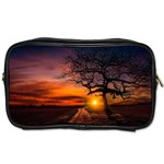 Lonely Tree Sunset Wallpaper Toiletries Bag (Two Sides) Front