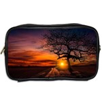 Lonely Tree Sunset Wallpaper Toiletries Bag (Two Sides) Back