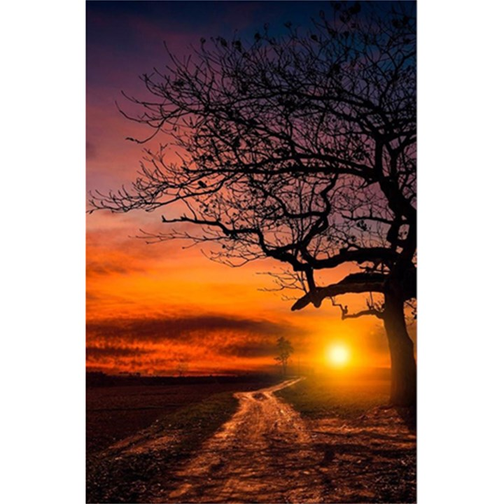 Lonely Tree Sunset Wallpaper 5.5  x 8.5  Notebook