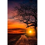 Lonely Tree Sunset Wallpaper 5.5  x 8.5  Notebook Front Cover Inside