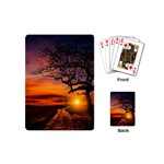 Lonely Tree Sunset Wallpaper Playing Cards (Mini) Back