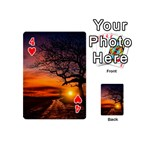 Lonely Tree Sunset Wallpaper Playing Cards 54 (Mini) Front - Heart4