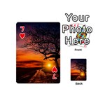 Lonely Tree Sunset Wallpaper Playing Cards 54 (Mini) Front - Heart7