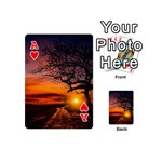 Lonely Tree Sunset Wallpaper Playing Cards 54 (Mini) Front - HeartA