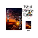 Lonely Tree Sunset Wallpaper Playing Cards 54 (Mini) Front - Joker1