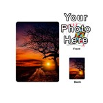 Lonely Tree Sunset Wallpaper Playing Cards 54 (Mini) Back
