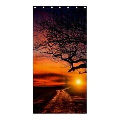 Lonely Tree Sunset Wallpaper Shower Curtain 36  X 72  (stall)