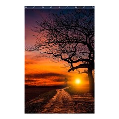 Lonely Tree Sunset Wallpaper Shower Curtain 48  X 72  (small)
