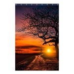 Lonely Tree Sunset Wallpaper Shower Curtain 48  x 72  (Small)  42.18 x64.8  Curtain