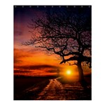 Lonely Tree Sunset Wallpaper Shower Curtain 60  x 72  (Medium)  54.25 x65.71  Curtain