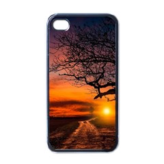 Lonely Tree Sunset Wallpaper Apple iPhone 4 Case (Black)