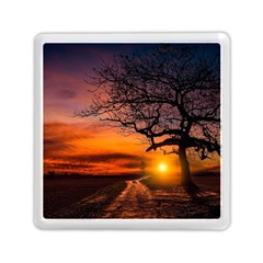 Lonely Tree Sunset Wallpaper Memory Card Reader (Square)