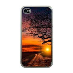 Lonely Tree Sunset Wallpaper Apple iPhone 4 Case (Clear)