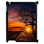 Lonely Tree Sunset Wallpaper Apple iPad 2 Case (Black) Front