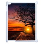 Lonely Tree Sunset Wallpaper Apple iPad 2 Case (White) Front