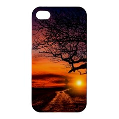 Lonely Tree Sunset Wallpaper Apple iPhone 4/4S Hardshell Case