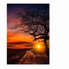Lonely Tree Sunset Wallpaper Large Garden Flag (Two Sides)