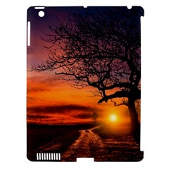Lonely Tree Sunset Wallpaper Apple iPad 3/4 Hardshell Case (Compatible with Smart Cover)