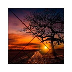 Lonely Tree Sunset Wallpaper Acrylic Tangram Puzzle (6  X 6 )