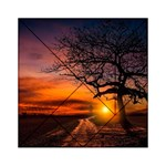 Lonely Tree Sunset Wallpaper Acrylic Tangram Puzzle (6  x 6 ) Front